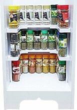 Gewürzregal Küchenregal beliebig verstellbar Regal für Küchenschränke