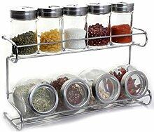 Gewürzregal, Küchenzubehör, Glas,
