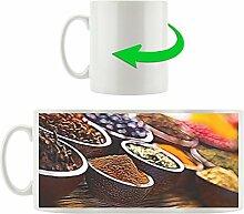 Gewürzschalen, Motivtasse aus weißem Keramik 300ml, Tolle Geschenkidee zu jedem Anlass. Ihr neuer Lieblingsbecher für Kaffe, Tee und Heißgetränke.