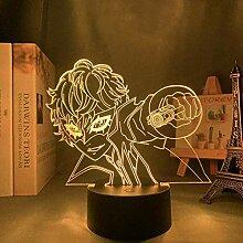 GEZHF 3D Animation Figure Illusion Lampe Anime