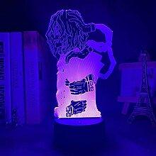 GEZHF 3D Anime Lampe Mein Held Akademie Tomura