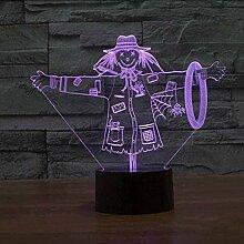 GEZHF 3D Illusion Lampe führte Nachtlicht schöne