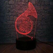 GEZHF 3D Illusion Lampe LED Nachtlicht Musik Saxo