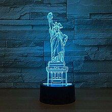 GEZHF 3D-Illusionslampe führte Nachtlicht New