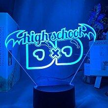 GEZHF 3D Illusionslampe LED Nachtlicht Anime High