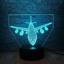 GEZHF 3D Illusionslampe LED Nachtlicht Flugzeug