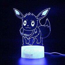 GEZHF 3D Illusionslampe LED Nachtlicht Touch