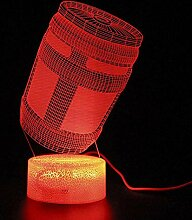 GEZHF 3D-Illusionslampe LED-Nachtlichtspiel Battle