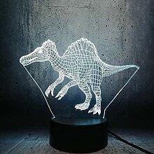 GEZHF 3D Tier Dinosaurier Illusion Lampe