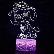 GEZHF Ahri 3D LED Illusion Lampe Nachtlicht