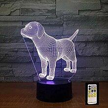 GEZHF Puppy Touch Control 3D-Lampe