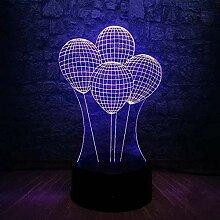 GEZHF Weihnachtsgeschenk Led Nachtlicht 3D