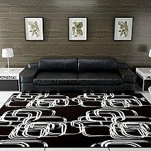 GF DIY Wohnzimmer Teppich Schwarz Wohnzimmer