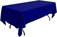 gfcc 100% Polyester Polyester, rechteckig, Tischdecke für Hochzeit, Party und Bankett (70x 120-inch, Royal Blau)