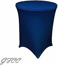 GFCC 72 -Zoll K?nigsblau Runde Stretch Tischdecke