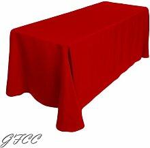 gfcc 90x 156–Zoll Tischdecke, Polyester, 225cmx390cm Tischdecke, Sonstige, rot, 90 x 156 tablecloth