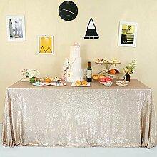 GFCC Schimmernde Pailletten Tischdecke Hochzeit