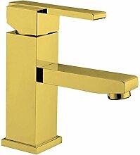 GFEI alle verkupfert gold heißen und kalten wasserhahn, waschbecken untere becken wasserhahn