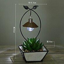 GFEI amerikanische pastorale schmiedeeiserne lampe simulation zimmerpflanze, simulation / kreative persönlichkeit des modernen, minimalistischen dekor lampe,h