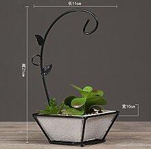 GFEI amerikanische pastorale schmiedeeiserne lampe simulation zimmerpflanze, simulation / kreative persönlichkeit des modernen, minimalistischen dekor lampe,c