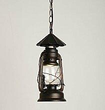GFEI außenbeleuchtung _ retro - dekorative eisen petroleumlampe kronleuchter kronleuchter restaurant,28 cm