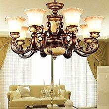 GFEI der kronleuchter _ kronleuchter wohnzimmer lampe / jahrgang schmiedeeiserne kronleuchter klassische kunst halle,ein