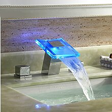 GFEI drei kupfer wasserhahn und glas led light