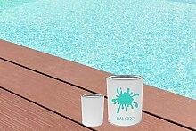 GFK Schwimmbecken Farbe RAL-Farben Glänzend Poolfarbe | BEKATEQ LS-405 Schwimmbadfarbe Polyesterbecken Farbe | Abriebfest, Wasser- und Chemikalienbeständig, Hochdeckend, Schnelle Trocknung | Polyester Farbe Teichfarbe Fischbecken Farbe GFK Teichbecken (5KG, RAL6027 Lichtgrün)