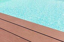 GFK Schwimmbecken Farbe RAL-Farben Glänzend Poolfarbe | BEKATEQ LS-405 Schwimmbadfarbe Polyesterbecken Farbe | Abriebfest, Wasser- und Chemikalienbeständig, Hochdeckend, Schnelle Trocknung | Polyester Farbe Teichfarbe Fischbecken Farbe GFK Teichbecken (2,5KG, RAL9010 Weiss)