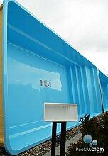 Gfk Schwimmbecken LAOFI Swimming-Pool, Garten-Pool MINIATUR! GFK Pool Mini