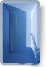 GFK Springbrunnenbecken 6076 in verschiedenen Farben 7000 Liter von M+W Gartenflair (Blau)