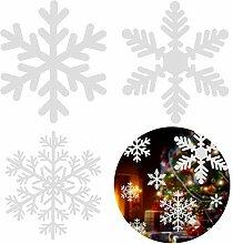Gfone Schneeflocken Fensterbild Entfernbarer