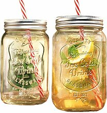 GFSmart Glas-Einmachgläser, Getränkebecher mit