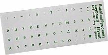 GFULLOV Tastatur Aufkleber Russische Tastatur