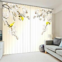 GFYWZ 3D Gardinen Polyester Persönlichkeit Dreidimensionale Rosen Digitaldruck Fenster drapiert Blackout Lärmminderungs Home Decor Schiebegardine , 4 , wide 2.20x high 1.80