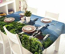 GFYWZ 3D Tischdecke Digitaldruck Tee Tuch staubdichten Polyester Rechteck Tischdecke . 15
