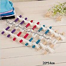 GFYWZ Aufhänger Sponge Mehrfarben Anti-Rutsch-Kind-Hosen-Rack (Packung mit 20) , beige , 26*14cm