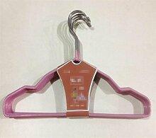 GFYWZ Die Imprägnierung rutschfeste Kleiderbügel Abtropfgestelle Hanging Kleiderständer , lila
