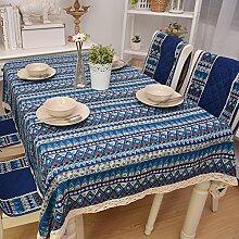 GFYWZ Druck blauen Streifen Print Baumwolle
