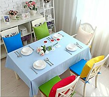 GFYWZ Einfach Tischdecke mit Tuch im Hause Zehnfarben-optional , light blue , 90*90cm