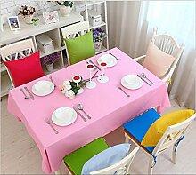 GFYWZ Einfach Tischdecke mit Tuch im Hause Zehnfarben-optional , pink , 60*60cm