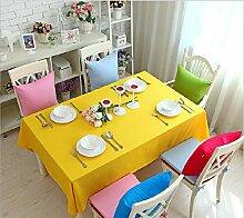 GFYWZ Einfach Tischdecke mit Tuch im Hause Zehnfarben-optional , lemon yellow , 140*200cm
