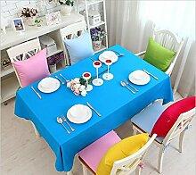 GFYWZ Einfach Tischdecke mit Tuch im Hause Zehnfarben-optional , lake blue , 60*60cm