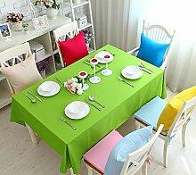 GFYWZ Einfach Tischdecke mit Tuch im Hause Zehnfarben-optional , fruit green , 140*140cm