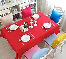 GFYWZ Einfach Tischdecke mit Tuch im Hause Zehnfarben-optional , big red , 130*180cm