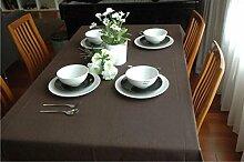 GFYWZ Einfarbige Tischdecke Tischdecke Home Stoff verschiedene Größe . coffee . 65*65cm