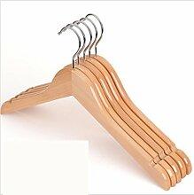 GFYWZ Erwachsene Aufhänger Massivholz Nicht Durable Anzug Kleiderbügel (Packung mit 10) rutschen , C