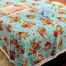 GFYWZ Esstisch quadratisch mit Baumwolltuch, Blue,