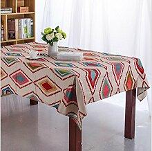 GFYWZ Esstisch quadratisch mit Leinwand Tuch, 140