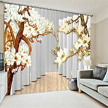 GFYWZ Gardinen Polyester Blumen 3D Stereo Vision Digitaldruck Stoffe Blackout Insulated Lärmminderungsmassiv Thermal Schlafzimmer Schiebegardine Home Decor Fenster Vorhänge , 3 , wide 2.64x high 1.6
